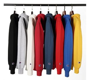 Men's women's Jackets hooded sweater long-sleeved loose couple plus velvet autumn clothes round neck sports casual autumn clothing