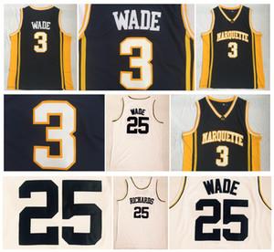 Marquette Golden Eagles Dwyane Wade Jerseys Richards High School Baloncesto Deporte Equipo Azul marino Blanco ¡De primera calidad!