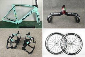 안치 OLTRE XR4 블루 탄소 도로 자전거 프레임 자전거 프레임 세트 듀라 에이스 C50 탄소 바퀴 비앙 UD 광택 핸들
