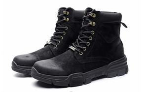 Горячая продажа Мужские ботинки 48 размера 45 корейской версии британского 46 тенденция кожи 47 Мартин сапоги мужские ботинки осень и Winte