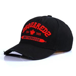 الجملة-جديد 2019 فور سيزونز قابل للتعديل مطرزة قبعة القطن قبعة بيسبول DSQICOND2 الرجال والنساء قبعات رياضية قبعات headwears snapbacks