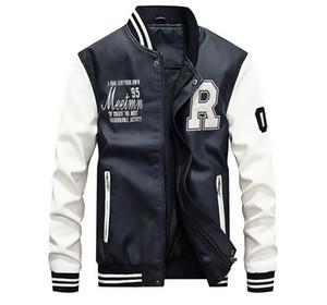 Homens Fashion Designer Jacket outono e inverno PU Leather Mens Casacos jaqueta casual Estilo Foe Masculino Outdoor Sports Vestuário Jacket Tamanho M-4XL