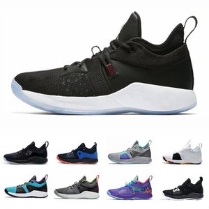 Sapatos Shoes New Botas Paul 2 PG II George PG2 2S estrelado Basquetebol azul vermelho All Branco Preto Basketball Shoe Tamanho 40-46 venda