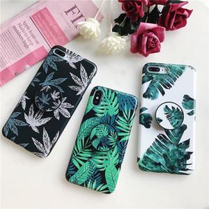 Venta caliente estilo de verano piña mármol patrón de cactus funda para teléfono para iPhone XS Max XR X 6 6S 7 8 Plus con soporte