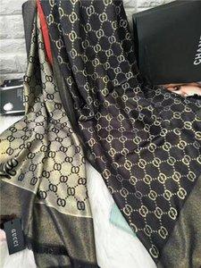 Мода Шелковый шарф для женщин Letter Pattern Элегантный Платки Размер 180X70CM шарф дамы Wrap длинные шарфы