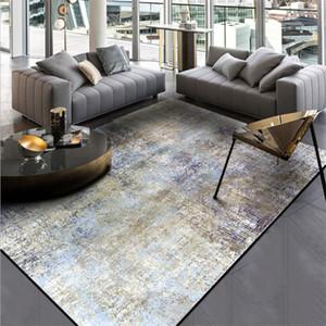Alfombras para sala de estar Patrón de tinta de color nórdico Alfombra de la alfombra de la alfombra de navidad Alfombra para el dormitorio Mesa de salón Accesorios