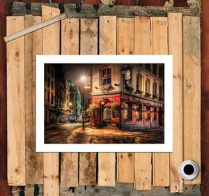 Street In London Stampa artistica HD Pittura a olio originale su tela di alta qualità Decorazione della parete di casa, Opzioni di diverse dimensioni, Spedizione gratuita, Paesaggio della città C7