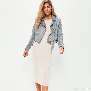 Summer Pure Color Женский платье Женщины Crew Neck рукавов Сплошные платья Повседневный Ladies Holidays Модельер одежды