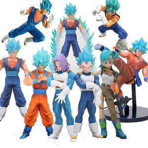 Dragon Ball Z THE SUPER WARRIORS Super Saiyan 4 God SS vegetto vegito blue hair dragonball goku bulma Collection Figure Toy Y191105