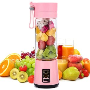 Elétrico do fruto Juicer 6 Blandes 400ml Suco portátil Extractor Squeezers Household Multi-funcional Juicer Cup 4 cores