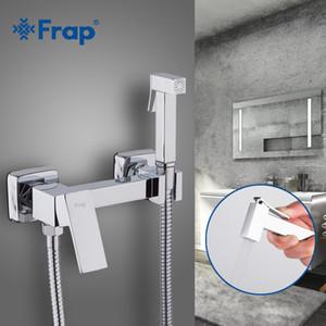 bidés al por mayor nueva llegada de latón cromado bidet grifo de la ducha portátil pulverizador Conjunto caliente y fría agua del grifo showerF7504 higiénicas
