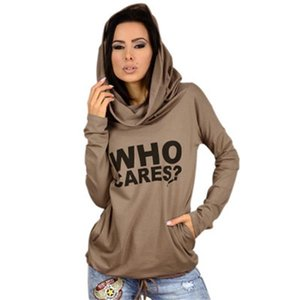 New 2020 Spring   Autumn Europe and America Letters Print Hooded Sweater Women's Thin Loose 5392# S-XL