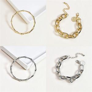 BAMOER New Collection 925 Sterling Alloy Winter Snowflake Women Bracelets Chain Link Bracelet Sterling Alloy Jewelry BSB001 V191217#191
