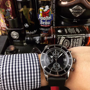 vigilanza di affari VK 64 cronografo Orologi da polso massimo comfort in acciaio inox maglia cinghia 5 ATM impermeabile puntatore luminoso Montre de luxe
