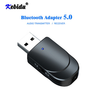 onsumer Eletrônica Kebidu Bluetooth Receiver Transmitter Mini Stereo Bluetooth 5.0 Áudio AUX RCA 3,5 milímetros USB Jack Para TV PC Car Kit gru ...