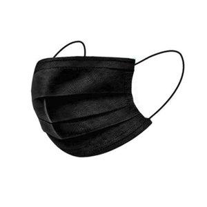 Máscaras preto facial descartável elásticas para a máscara Anti Poeira Earloop proteção respirador Boca máscaras de filtro azul não tecido 3 camadas cores Facemask