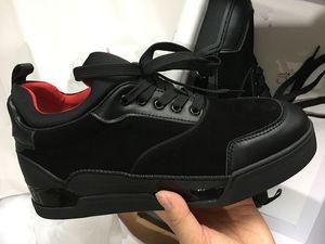 Açık Sneaker Walking 2019 Ünlü Tasarımcı Erkekler Düğün Ayakkabı Kırmızı Alt Sneakers Erkek Ayakkabı Aurelien Düz Sneakers Düşük üst süet eğitmenler