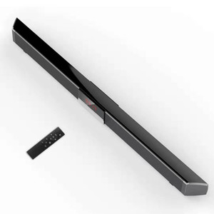 SR100 강력한 블루투스 TV 사운드 바 40W 무선 슬림 스테레오 스피커가 내장 된 서브 우퍼 TV 사운드 시스템 인공 지능 스피커