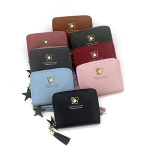 Kadın cüzdanlar Püskül kısa cüzdan Fermuar bozuk para cüzdanı Cep Cüzdan Kart Sahibi Kadın Para Çantası Küçük sevimli küçük carteira