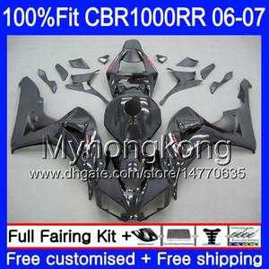 Cuerpo de inyección + tanque para Honda CBR 1000 RR CBR 1000RR 06-07 276HM.0 CBR1000RR 06 07 CBR1000 RR 2006 2007 Kit de cares de OEM Cool Factory Black