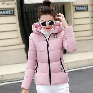 Parkas Winter Women Autumn Plus Size 5Xl Coat Jacket Hooded Polyester Thick Warm Short Outerwear Female Slim Cotton Padded Basic Tops