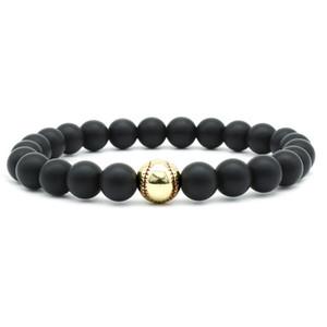 Natural Black Lava Stone Beads Elastic Bracelet Handmade Charm Beaded Yoga Energy Bracelet Volcanic Rock Beaded Hand Strings
