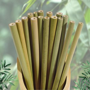 Natürliche Green Bamboo Yellow Bamboo Carbonized Strohhalme Gesundheit und Umweltschutz Anpassbare Gravur LOGO DBC VT0192