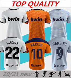 2020 2021 발렌시아 축구 유니폼 Camiseta de fútbol 20/21 로드리고 Parejo Kang에서 Gaya Guedes C.Soller 축구 셔츠