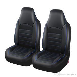 Универсальное автокресло охватывает сиамского Pu Leather Double Передние чехлов сидений Фитинги Седаны Авто Интерьер Автоаксессуары сиденья F-25