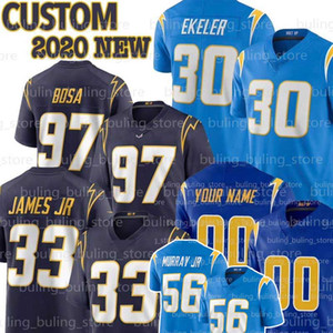 Personalizado Los Angeles 30 Austin Ekeler Jersey Charger 86 Hunter Henry 56 Kenneth Murray JR 19 Lance Alworth LaDainian Tomlinson Junior Seau