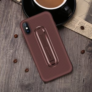 Hot Huawei mobile phone shell carbon fiber invisible bracket TPU anti-fall soft shell for P20 P10 mate20X mate20pro phone case