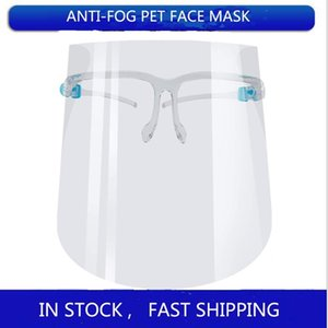 US Stock DHL Protective Full Face Mask Transparent Anti Fluids Face Shield Anti Dust Fog Anti Splash Mouth Face Clear Protective Mask
