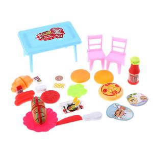 Doll House Miniature Cozinha Food Set Crianças Pretend Play Toy