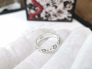 Европа Америка ретро стиль мужчины Леди женщины Титановая сталь посеребренная гравировка G письмо череп головы узкие кольца размер US6-9
