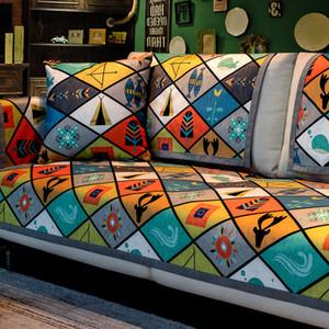 Sofa Cover nordico per Living Room geometrica Divani Covers universale ciniglia Asciugamano Divano antiscivolo Couch copertina Slipcovers
