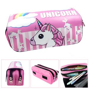 caja de lápices unicornio de dibujos animados estuche escolar Kawaii trousse scolaire stylo pluma caso lindo escritorio creativos kalem kutusu