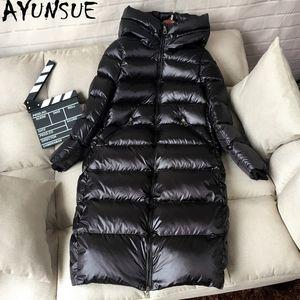 Ayunsue 90% Blanc Duck Veste Down Down Women Du manteau d'hiver épais de femme à capuche coréenne féminine gaffe veste doudoune femme kj727 t190921