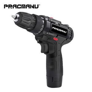 PRACMANU 12V Trapano avvitatore a batteria Trapano elettrico a batteria mini cacciavite elettrico strumento di potere trapano a batteria T200324