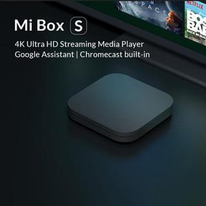 ücretsiz gemi 2020 Xiaomi Mi TV Box S 4 Android 8.1 4K HD QuadCore Akıllı Bluetooth 2GB 8GB HDMI WiFi Seti UP Boxs Media Player