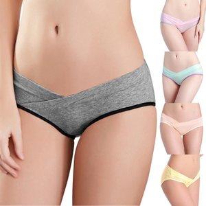 Cotton Maternity Underwear U-Shaped Low Waist Pregnancy Briefs For Pregnant women Plus size Panties Clothes YRD