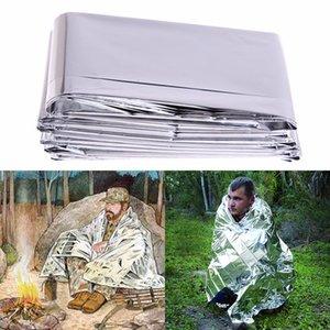 210 x 130 centímetros Camping Emergency Blanket portátil Prata Fina Survival Resgate Waterproof Mat Outdoor Blanket dobrável salva-vidas