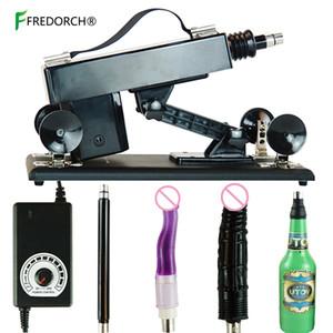Fredorch automática Vibartor máquina com Vagina Cup Brinquedos Mulher Dildo Adult Sex produtos Masturbator por Homens Y200410
