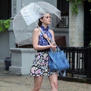 59cm PVC-freie nette Blase Tief Dome Griff Regenschirm Gossip Girl Wind Resistance Kinder Erwachsene Haushalt Kunterbunt Regenschirme CCA11858-C 20pcs