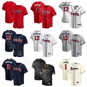 New 2020 Baseball Homme Femme Enfant 40 Mike Soroka Jersey 16 Travis Darnaud 20 Marcell Ozuna 7 Dansby Austin Riley Swanson Cooperstown bleu