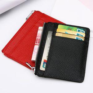 Carte en cuir véritable de vache titulaire Vintage ID multiple Wallet Card Case Cover Banque de crédit de poche Personnaliser titulaire Logo