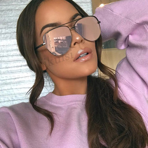 luxury- Women Brand Designer Fashion Sunglasses Womens Oversized Pilot Sun Glasses for Women Fashion Shades UV400 Lunettes Femme