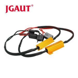 Jgaut нагрузочные резисторы 50 Вт 8 Ом H7 декодер предупреждение Canceller декодер нет Canbus ошибка нагрузочного резистора