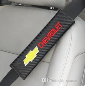 2pcs Carbon FiberAuto sede spalla della cinghia della copertura di caso per il rilievo di Chevrolet Colorado Cruze Spark Captiva Malibu Trax Aveo Car Styling