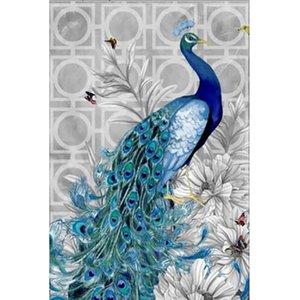 Peacock 5D DIY Teil Diamant Gemälde Mosaik Diamant-Stickerei Tier-Kreuz-Stich-Fertigkeit-Geschenk-Wand-Dekoration Home Decoration Needlework