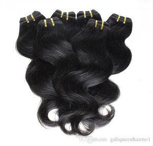 저렴한 헤어! 20bundles / 많은 100 % 브라질 처녀 머리 인간의 머리 짜 물결 모양의 바디 웨이브 자연 색 헤어 익스텐션 도매 무료 배송